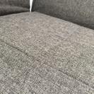 三人掛け布製リクライニングソファー こげ茶  ★美品 - 家具