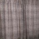 ヒョウ柄のカーテン