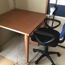 学習でもパソコンでも書き物でも使える机と椅子差し上げます。