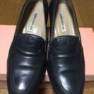 【美品】パンプス☆紺色  24cm★仕事、学校行事など