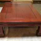 【値下げ】座卓 テーブル 天然木 重厚感 レトロ