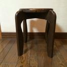 値下げ 天然木の椅子 アンティーク 重厚