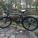 自転車 ビーチクルーザー シマノ6段変速