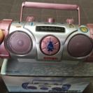 メタリックラジカセ型AM/FMラジオ