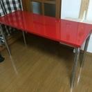 【終了しました】頑丈でオシャレな赤い作業台/PC机を無料で差し上げます。