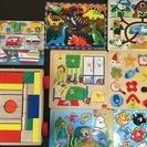 アメリカ&イタリア購入 木のおもちゃ パズル つみき セット