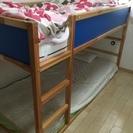 IKEA 2段ベッド マットレス付き