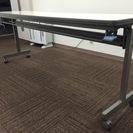 【フォールディングテーブル】会議用テーブル【白・折りたたみ】