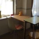 無印のパイン材テーブル★ワーキングスペースに勉強机に
