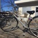 【中古自転車】6段変速ママチャリ27インチ カゴなし