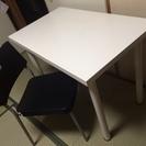 「一旦 受付終了 」           机と椅子