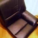 中古美品☆一人掛け大型座椅子・合成皮革・黒70×79×65㎝