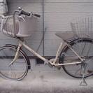 子供乗せ自転車 後ろカゴ 要パンク修理