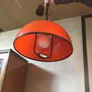 【値下げ】ペンダントライト/シーリングライト☆昭和レトロ オレンジ