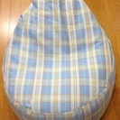 発送可 背もたれの椅子にもなる L球ビーズクッション【未使用】は如...