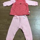 女児冬用パジャマ 韓国製 美品 80cm