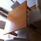 ダイニングセット 伸縮式テーブル イス4脚