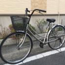 中古自転車26インチ シルバー
