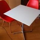 【値下げ❗️】カフェテーブル(ホワイト)