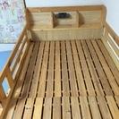 宮付き シングルベッド