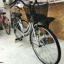 26インチ 銀色 中古自転車