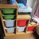 IKEAのおもちゃ収納。