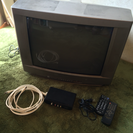《売約済》ブラウン管テレビ+地上デジタルチューナー