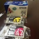 【値下げしました】EPSON インク CL42 4色パックおまけ付き