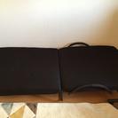 【黒色】折りたたみベッド【リクライニング】