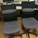2脚 椅子 パソコン チェア