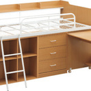 【引取待ち】収納抜群、小さな部屋でも使えるロフトベット