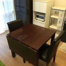ダイニングテーブル4人〜6人用➕椅子2脚