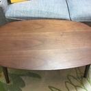ウォールナット木製ローテーブル(脚故障)