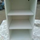 3段カラーボックス(脚付き)