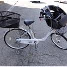 チャイルドシートつき自転車