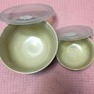 中古◆陶器製のストッカー2客◆丼椀、小皿としても使えます