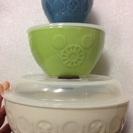 未使用箱入 ミッキー柄 蓋付き陶器製レンジパック