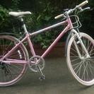 クロスバイク(カラー:ピンク)