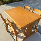 ダイニングテーブル&椅子4脚セット☆