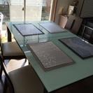 高級ガラステーブル&椅子セット