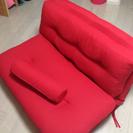 【超美品】赤色ソファベッド