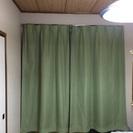カーテン(グリーン)2枚セット
