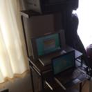 パソコン2台、パソコンラック、メタルラック、衣装ケース、プラスチッ...