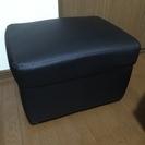 キレイ★レザーのスツール/椅子★ブラック 60×48×37cm