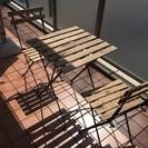 【りゅじゆっきぃ様】ベランダ用テーブルとチェアーセット