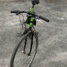 緑色の自転車です。
