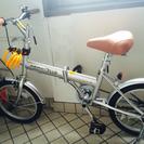 【新品】折りたたみ自転車(鍵チェーン付き)