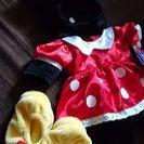 【ダッフィーやシェリーメイの衣装に】ビルドベア ミニーのコスチューム