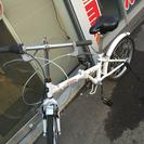 A-173 整備済み♪ 切り替え付き 折りたたみ自転車☆ ホワイト