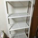 IKEA 4段シェルフ ホワイト 美品